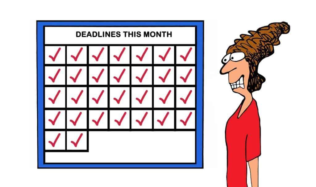 Deadline sheet