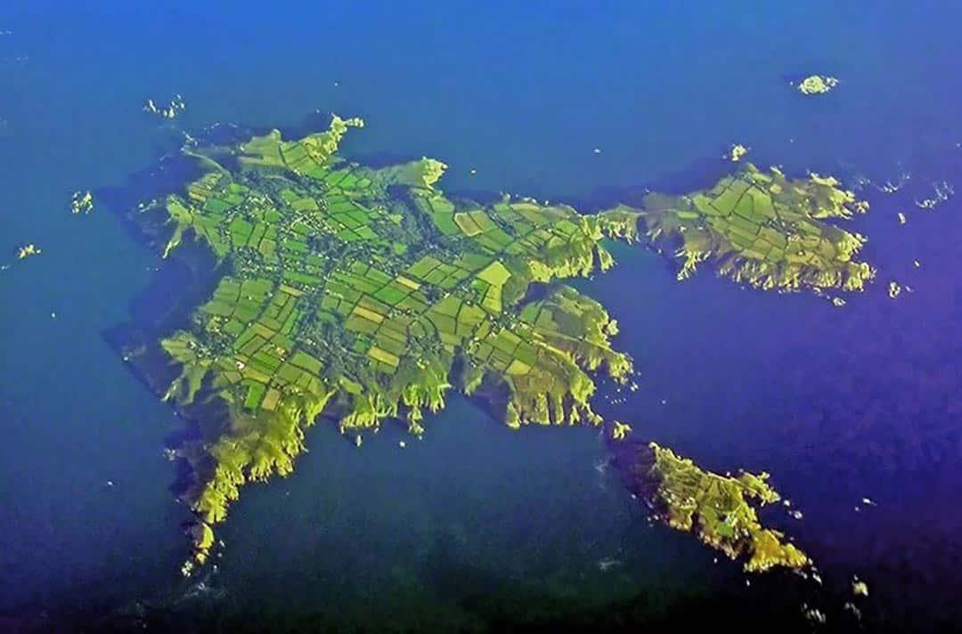 Sark aerial photo