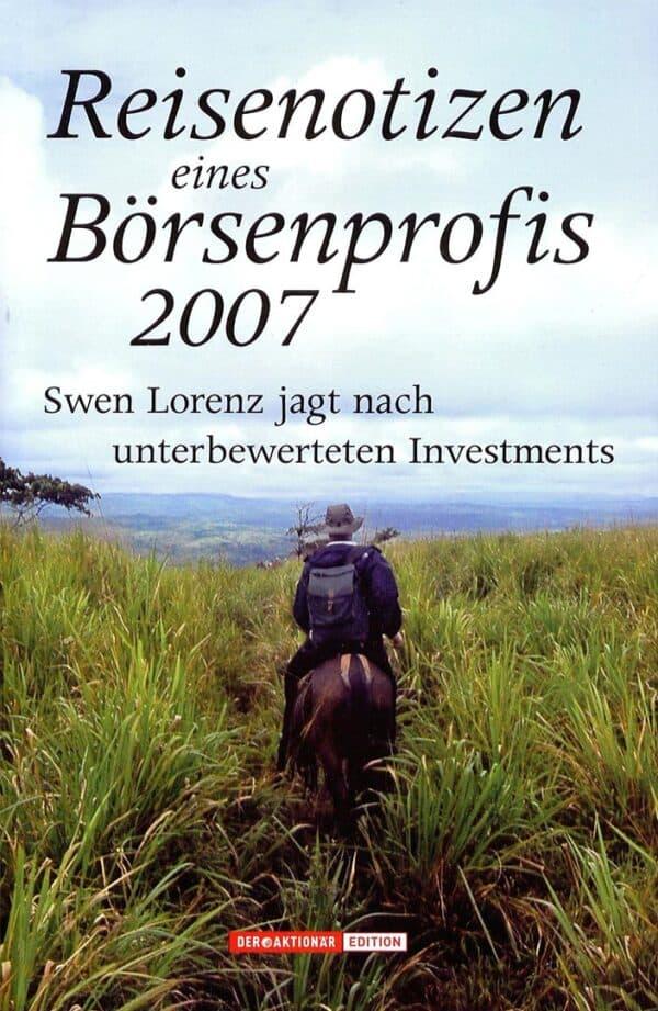 Reisenotizen eines Börsenprofis 2007 Cover