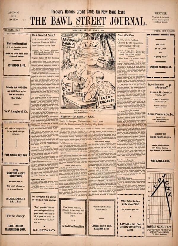 Bawl Street Journal 1959