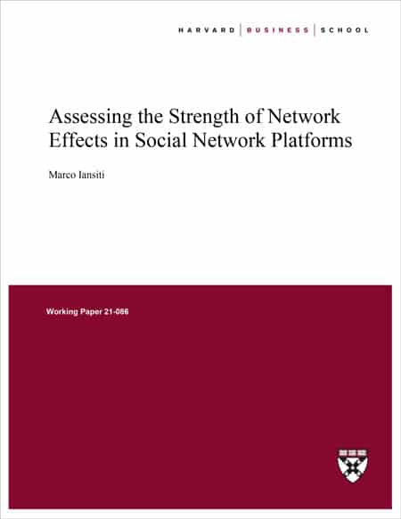 Harvard Business School - Assessing the strength of network effects in Social Network platforms
